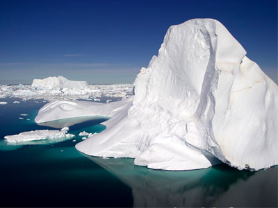 How much of an iceberg is on top of water?