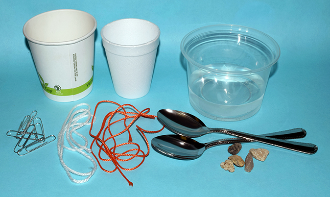 Suggested materials for sound activities