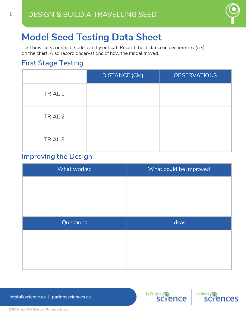 Sample data recording template
