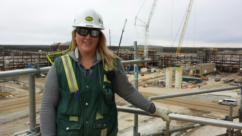 Hollee Heal at a job site