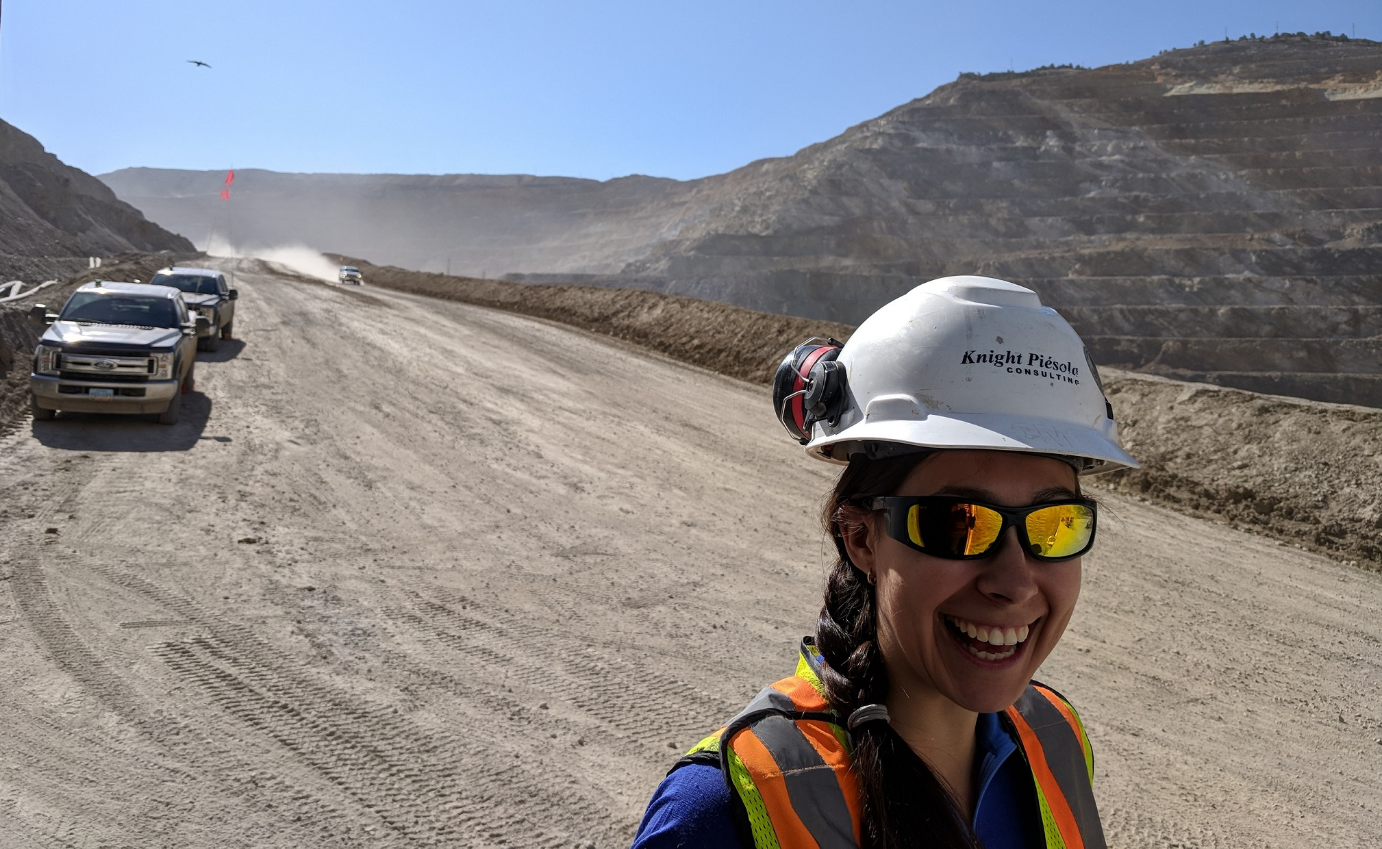 Nicole Brisson at a mine site