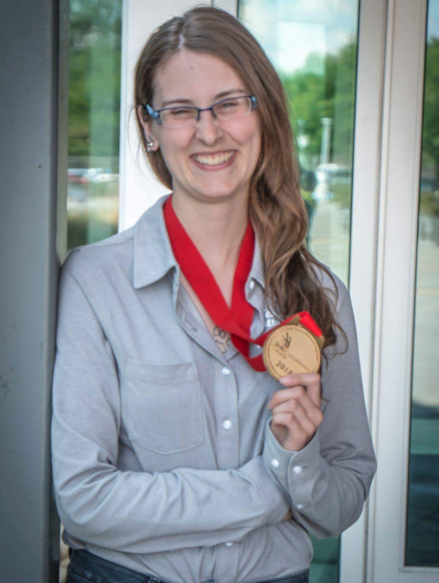 Nicole Hamilton with Gold Medal