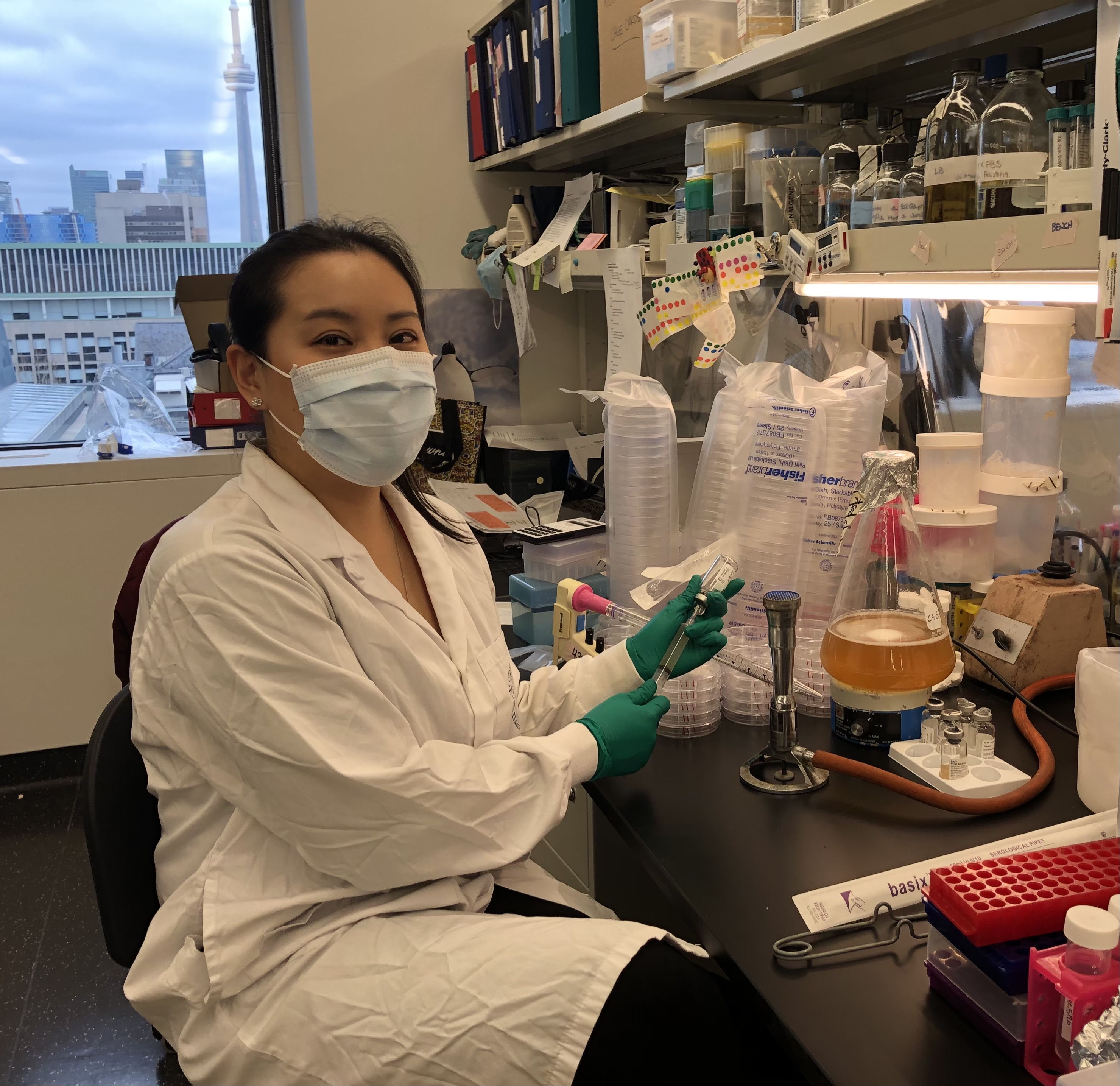 Jessica Lam at work in her lab