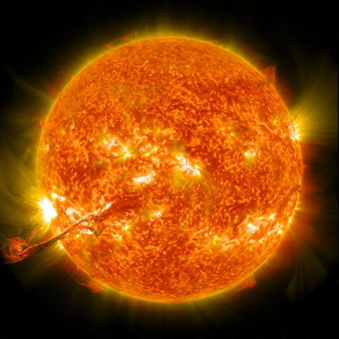This coronal mass ejection occurred on August 31, 2012