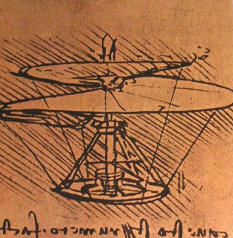 da Vinci's human-powered helicopter