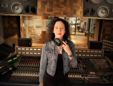Amy King in recording studio