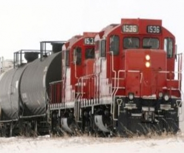 Train with oil cars