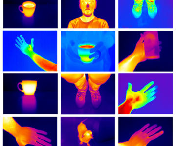Thermal images of people and objects