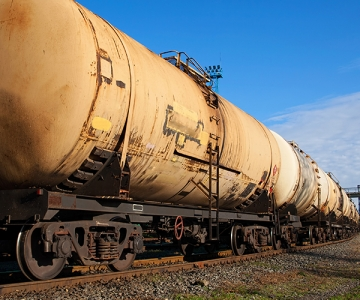 Train oil cars