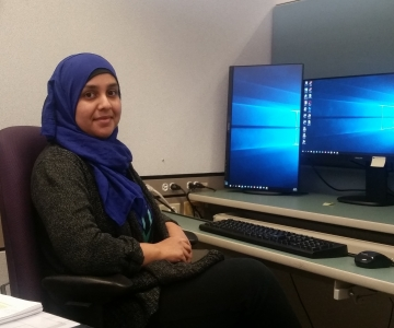 Madiha Khan at her office