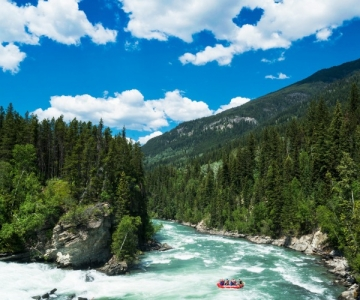 White water rafting on the Fraser River in British Columbia