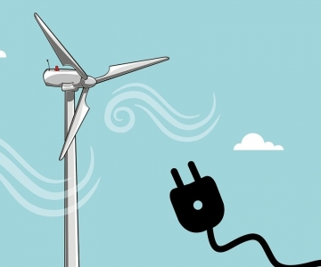 Wind turbine and electrical cord