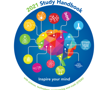 Study Handbook cover showing a colorful brain