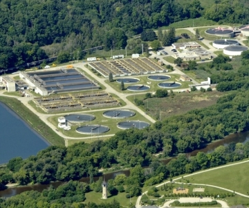 Water treatment plant near Kitchener, Ontario