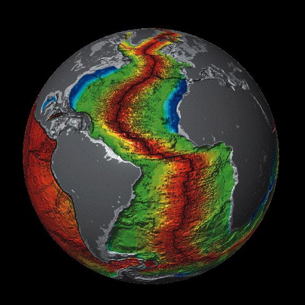 Earth seafloor crust
