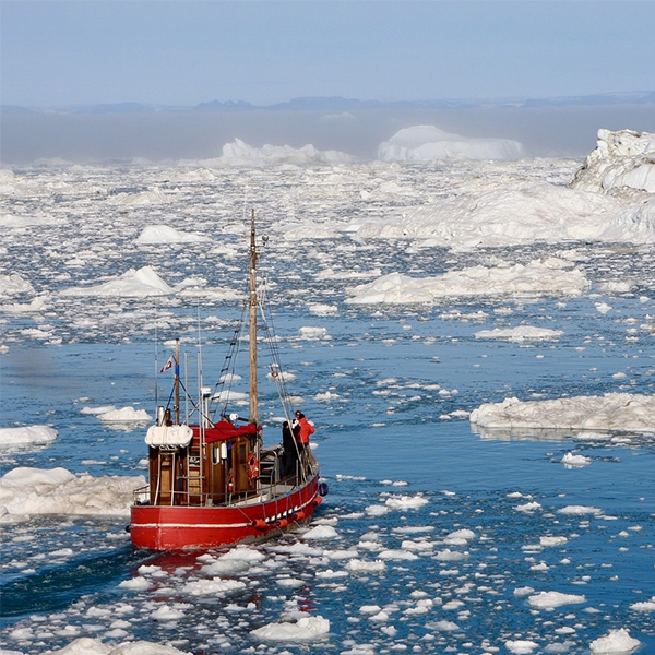 Ship in Arctic waters