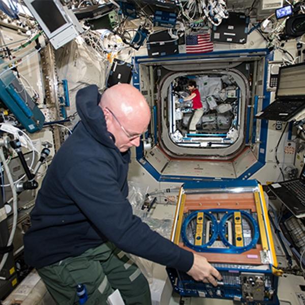 Inside the Destiny Laboratory Module on board the International Space Station