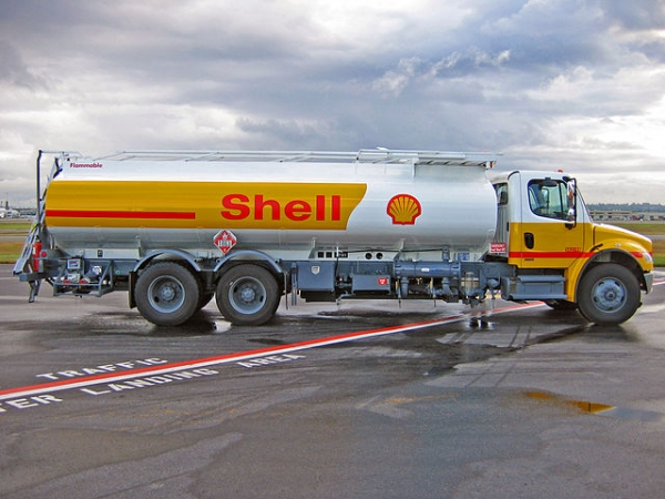 Oil refilling truck at Vancouver International Airport