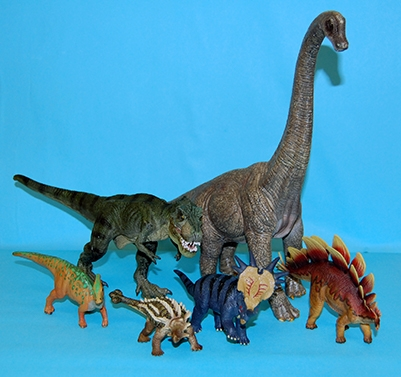 Scale models of dinosaurs