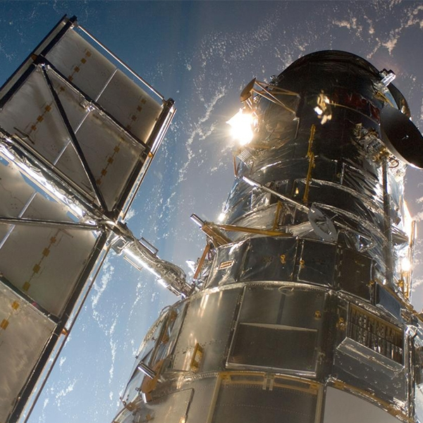 Hubble Space Telescope as seen during a servicing mission in 2009
