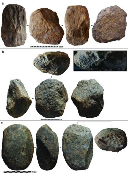 Some of the stone tools found in Kenya. Reprinted by permission from Springer Nature: Nature.