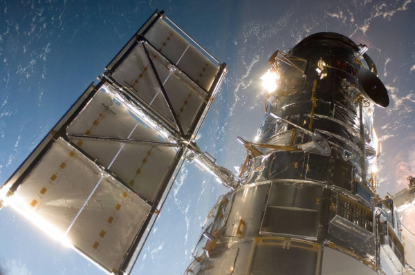 Close-up of the Hubble Space Telescope